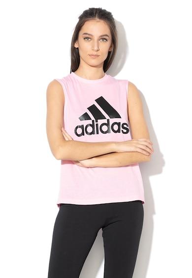 Adidas PERFORMANCE Top cu logo cauciucat, pentru fitness Bos Femei