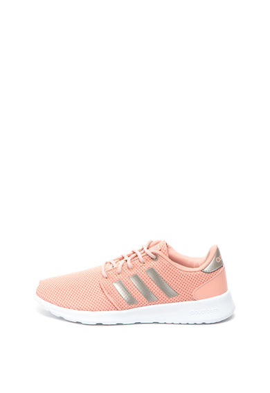Adidas PERFORMANCE Pantofi sport de piele ecologica si material textil Qt Racer Femei