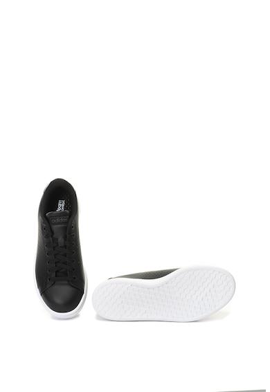 adidas Performance Pantofi sport de piele cu aspect peliculizat Advantage Femei