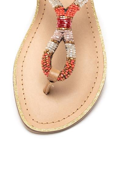 Bullboxer Sandale cu bareta separatoare si margele Femei