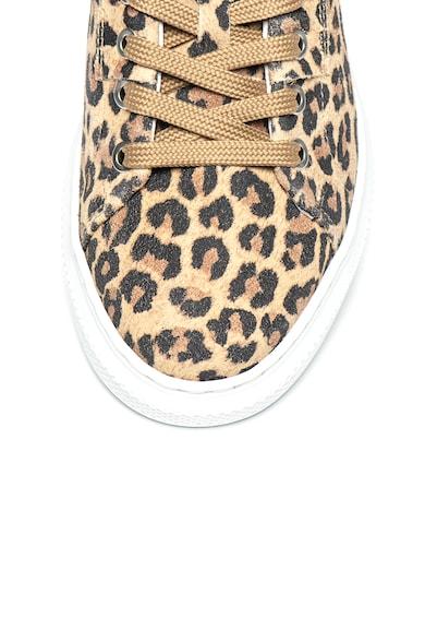 Bullboxer Pantofi sport de piele intoarsa cu animal print Femei
