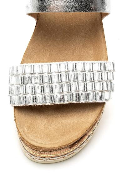 Bullboxer Sandale wedge cu aspect metalizat Femei