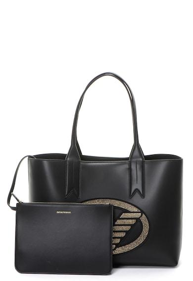Emporio Armani Чанта от еко кожа с лого от декоративни камъни Жени