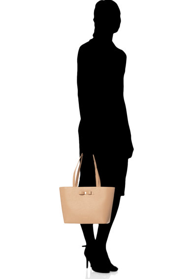 Ted Baker Кожена шопинг чанта Jjesica с панделка Жени