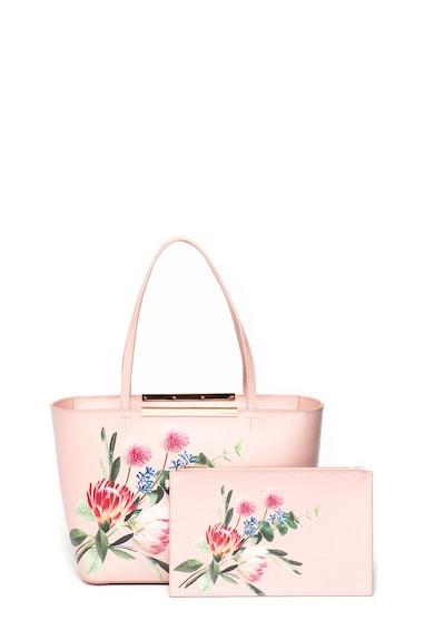 Ted Baker Geanta shopper de piele cu imprimeu floral Abiiey Femei
