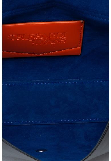 Trussardi Jeans Geanta de piele ecologica, cu bareta pentru umar City Femei