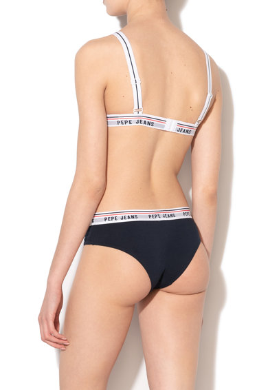 Pepe Jeans London Sutien cu imprimeu logo si cupe triunghiulare Margot Femei