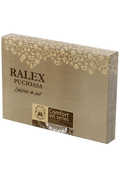 Ralex Pucioasa Lenjerie de pat XXL pentru 2 persoane Freedom  100% bumbac ranforce, model FR118 Femei