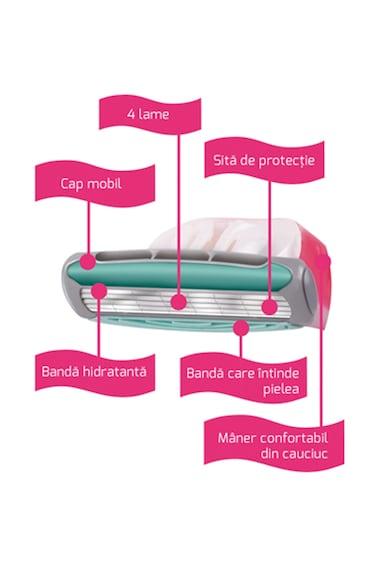 Wilkinson Aparat de ras de unica folosinta  Quattro Sensitive, Femei, 3 buc Femei