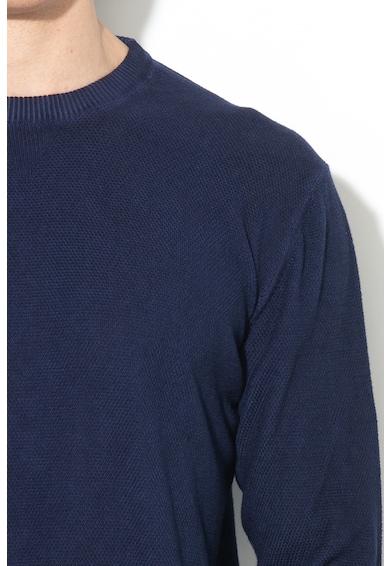 United Colors of Benetton Texturált, kerek nyakú pulóver férfi