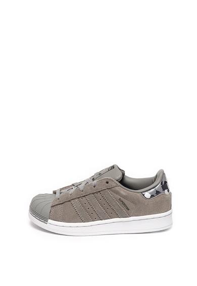 Adidas ORIGINALS Pantofi sport de piele intoarsa si piele ecologica Superstar Baieti