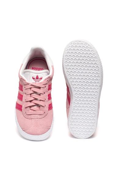 Adidas ORIGINALS Pantofi sport de piele intoarsa cu garnitura de piele ecologica Gazelle Fete