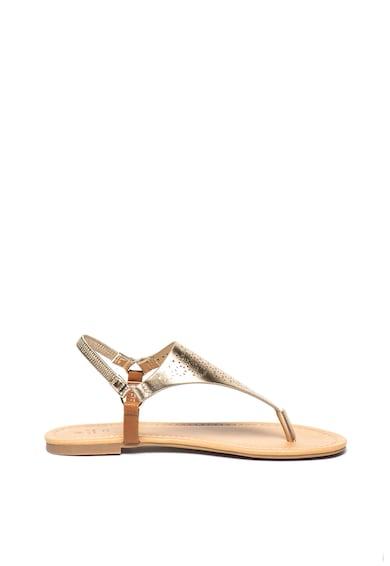 Call It Spring Sandale de piele ecologica, cu bareta separatoare si aspect metalizat Somniaria Femei
