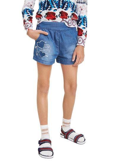 DESIGUAL Pantaloni scurti de denim, cu aspect decolorat Fete