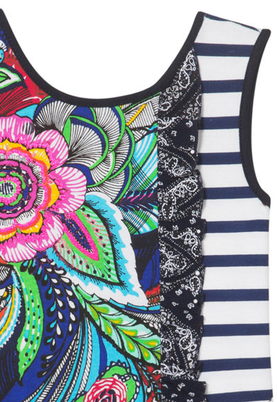 DESIGUAL Bővülő ruha többféle mintával Lány