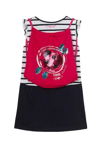 DESIGUAL Set de rochie combi si rucsac, cu paiete Fete