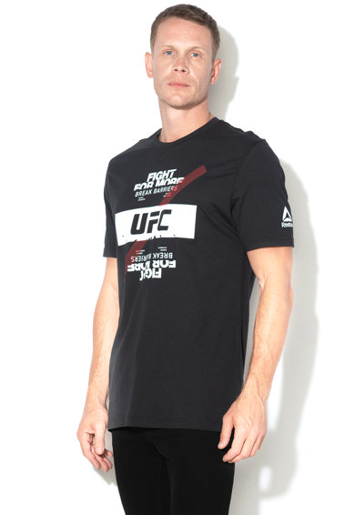 Reebok Sport Tricou cu imprimeu logo UFC Barbati