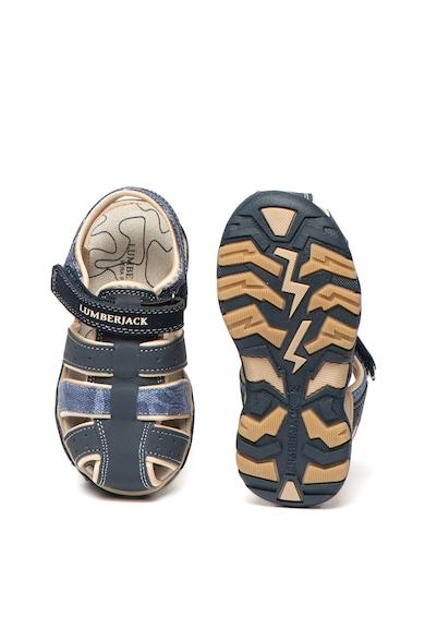 Lumberjack Sandale de piele nabuc ecologica si panza Levi Baieti