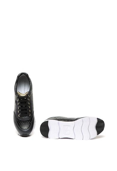 Lumberjack Pantofi sport de piele si piele ecologica, cu perforatii Kara Femei