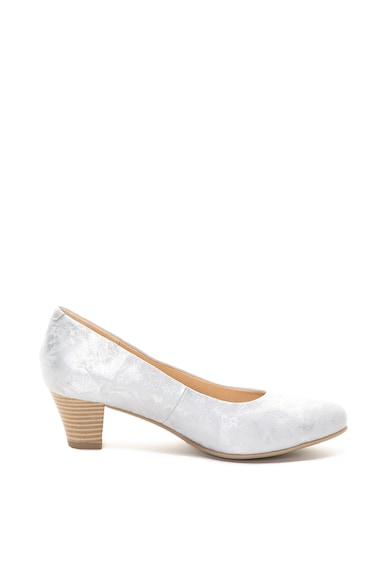 Caprice Pantofi de piele intoarsa, cu aspect metalic Femei