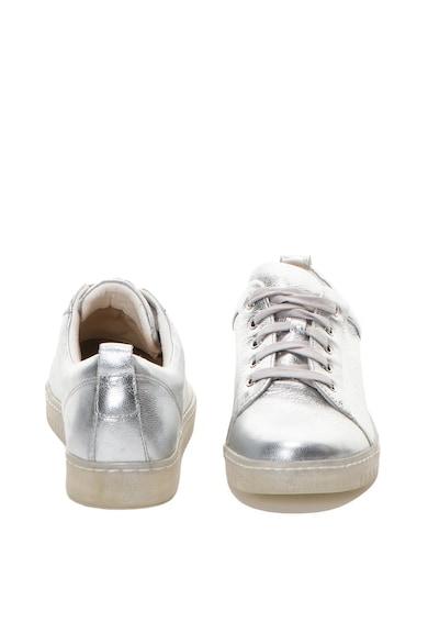 Caprice Pantofi sport de piele, cu aspect metalizat Femei