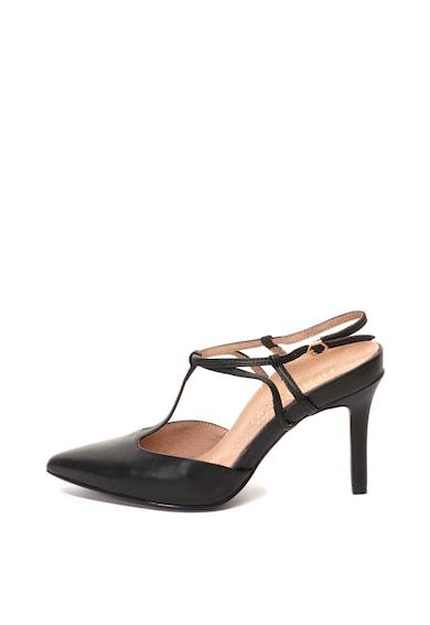 Tamaris Pantofi slingback de piele, cu varf ascutit Femei