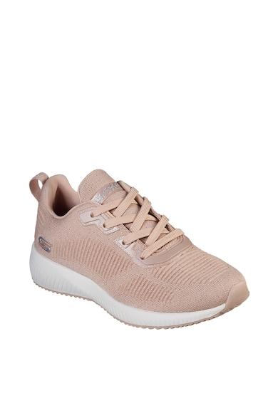 Skechers Pantofi sport de tricot, cu insertii stralucitoare Bobs Squad - Total Glam Femei