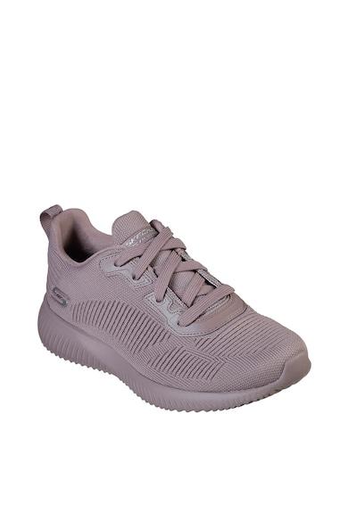 Skechers Pantofi sport din material tricotat Bobs Squad Tough Talk Femei