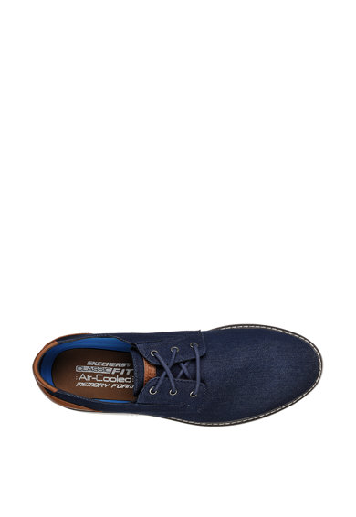 Skechers Обувки Wilcom тип Derby от деним Мъже
