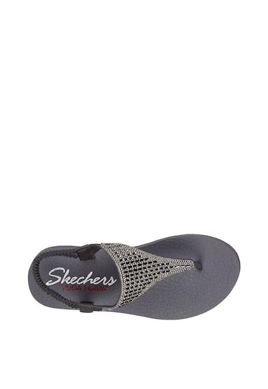 Skechers Sandale cu bareta separtoare si strasuri Meditation Rock Crown Femei