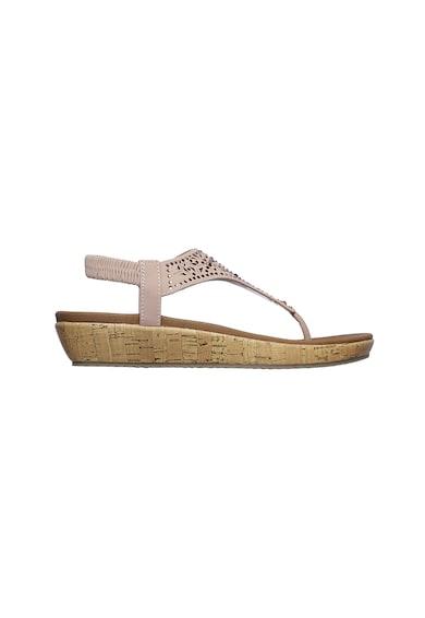 Skechers Sandale cu bareta in T si decoratii Brie Femei