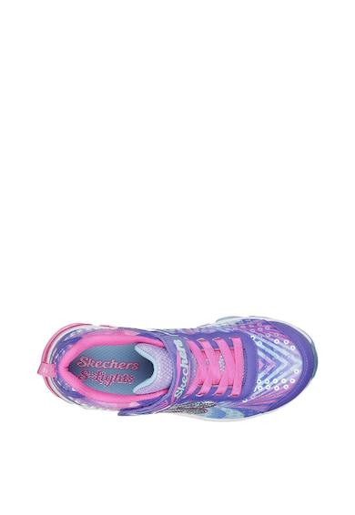 Skechers Jelly Beams tépőzáras sneaker LED-fényekkel Lány