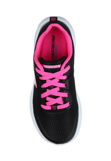 Skechers Pantofi sport de piele ecologica si material textil Dyna Air Jump Brights Fete