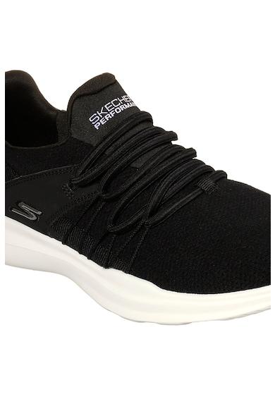 Skechers Pantofi sport slip on din material textil Go Run Femei