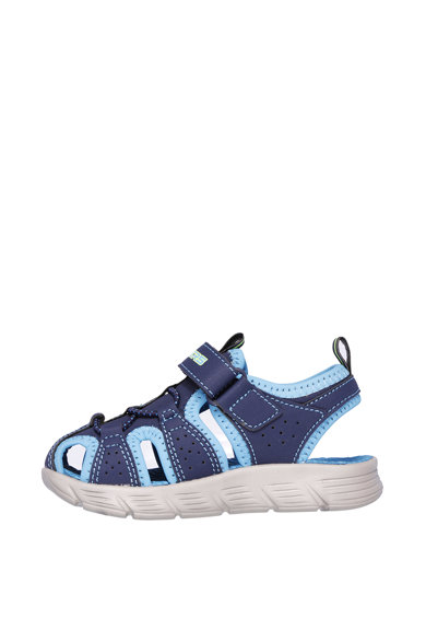Skechers Sandale de piele ecologica, cu velcro C-Flex Baieti