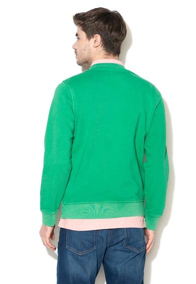 GAP Bluza sport cu imprimeu text si decolteu la baza gatului Barbati