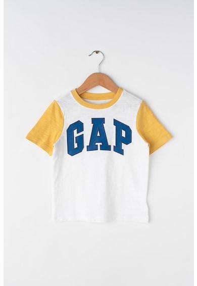 GAP Tricou cu imprimeu logo si colorblock Baieti