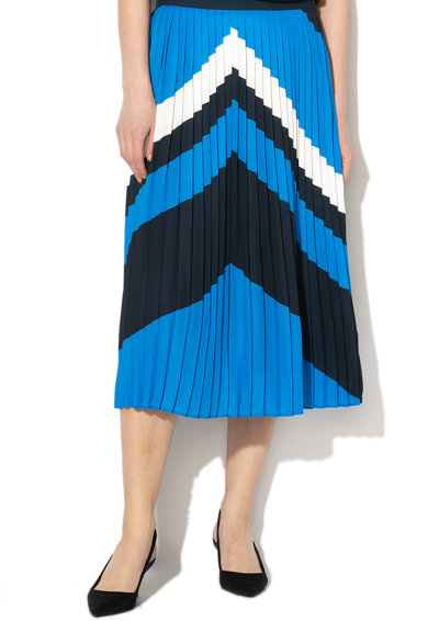 Banana Republic Fusta midi cu pliuri si model chevron Femei