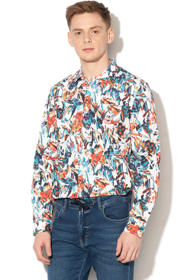 DESIGUAL Camasa regular fit cu imprimeu abstract Asher Barbati