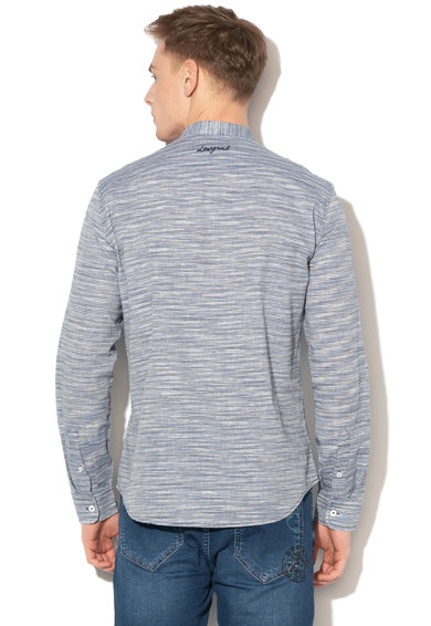DESIGUAL Colin csíkos ing hímzéssel férfi