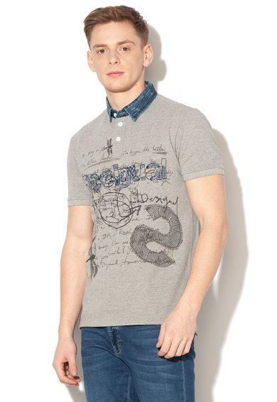 DESIGUAL Alcide galléros piképóló logórátéttel férfi