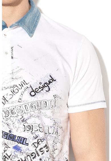 DESIGUAL Tricou cu model logo Gabriel Barbati