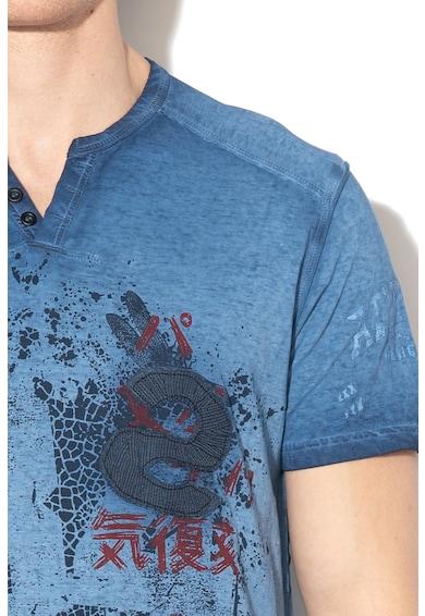 DESIGUAL Eckard grafikai mintás póló férfi
