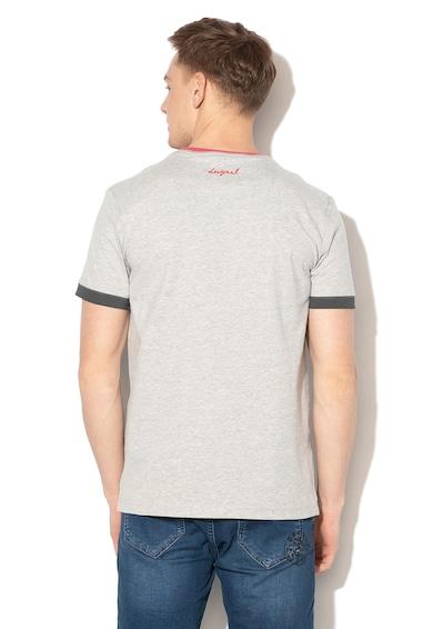 DESIGUAL Wissen grafikai és szövegmintás póló férfi