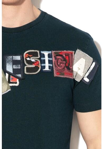 DESIGUAL Dereck póló foltrátétekkel férfi