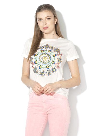 DESIGUAL Annette póló csillámos mandala motívumokkal női
