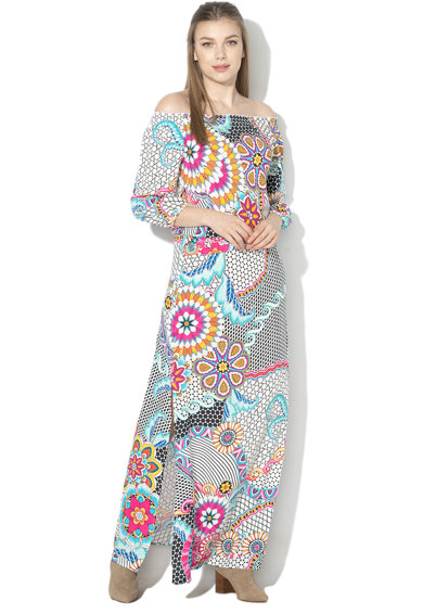 DESIGUAL Дълга рокля Dera с шарка Жени