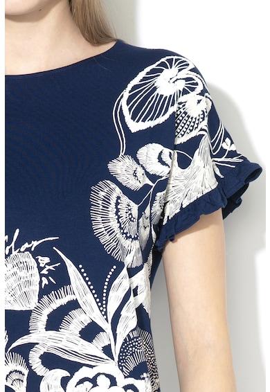 DESIGUAL Cherokees laza fazonú póló gumis mintával női