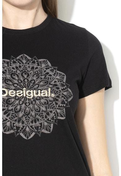 DESIGUAL Manchester póló logós hímzéssel női