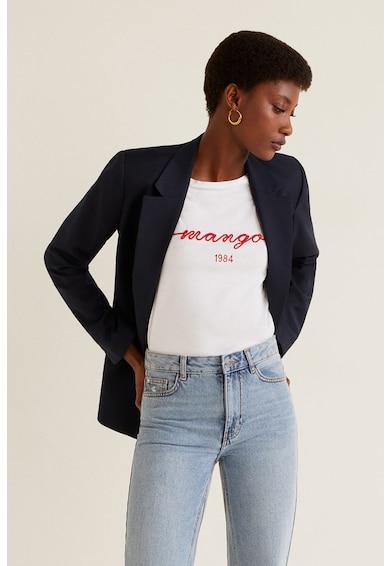Mango Tricou cu broderie logo Femei